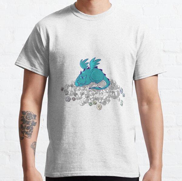 Cat Dragon Hoard in Blue Classic T-Shirt