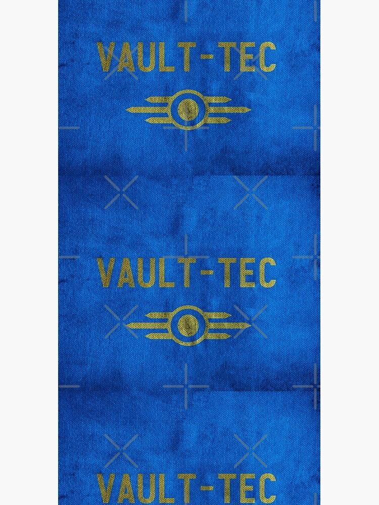 Fallout Grungy Vault-Tec Fabric by katemargoli