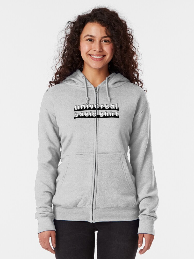 Alternate view of Universal Basic Shirt Zipped Hoodie