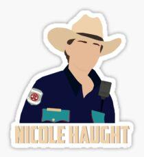 Nicole Haught - Minimalistic Poster (Wynonna Earp) Sticker