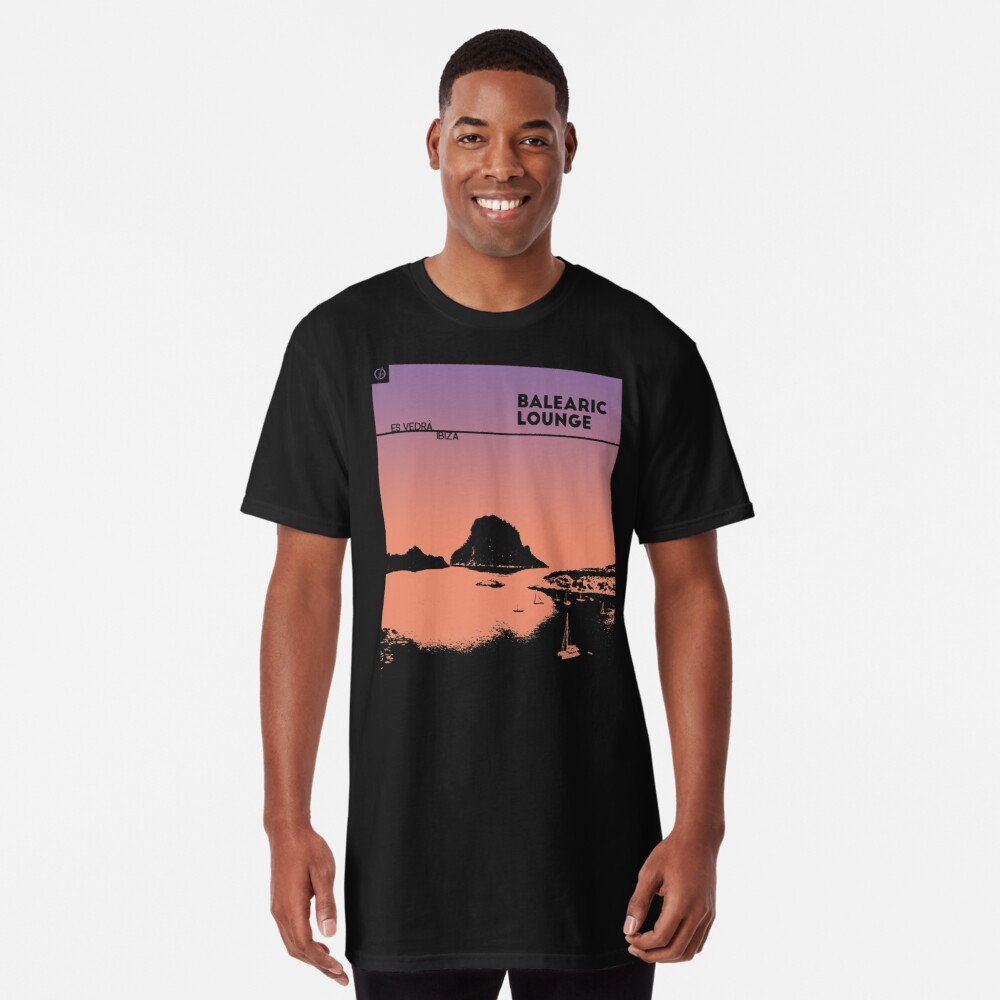 Balearic Lounge | Es Vedrà | Ibiza | Sunset Long T-Shirt