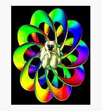 """MONKEY IN THE SPHERE"" Psychedelic Art Deco Print Photographic Print"