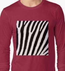 Zebra Stripes Skin Print Pattern T-Shirt