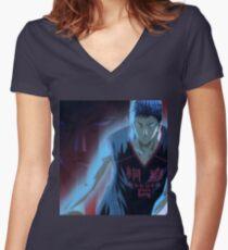 manga, anime -kuroko no basket- Women's Fitted V-Neck T-Shirt