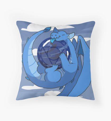 Sodalite dragon Throw Pillow