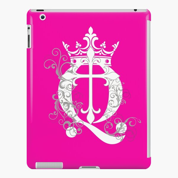 Pink Cup Cross Q Crown in White & Gray iPad Snap Case