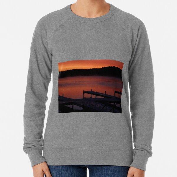 Surreal Sunrise on Gun Lake Lightweight Sweatshirt