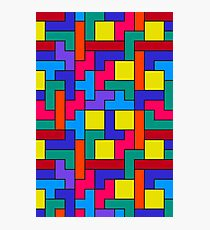 Tetris Blocks Pattern Photographic Print