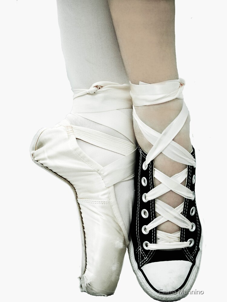 Pointe Shoe + Converse by enmphotography