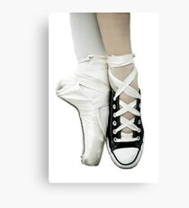 Pointe Shoe + Converse Canvas Print