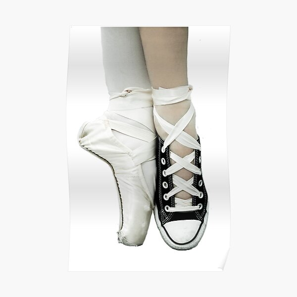 Pointe Shoe + Converse Poster