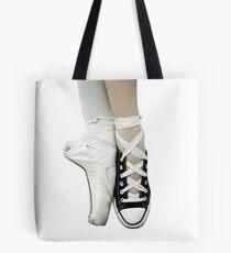 Pointe Shoe + Converse Tote Bag