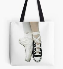Pointe Shoe + Converse Tote Bag