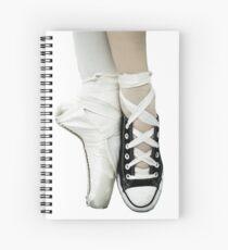 Pointe Shoe + Converse Spiral Notebook