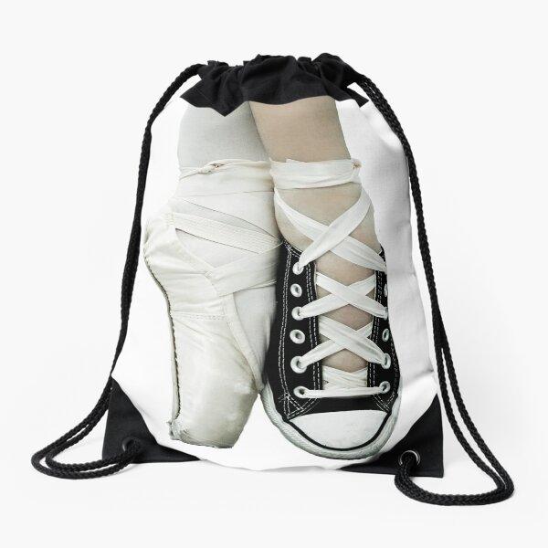 Pointe Shoe + Converse Drawstring Bag