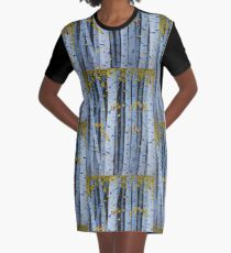 Ten Cardinals In Birch Trees Graphic T-Shirt Dress
