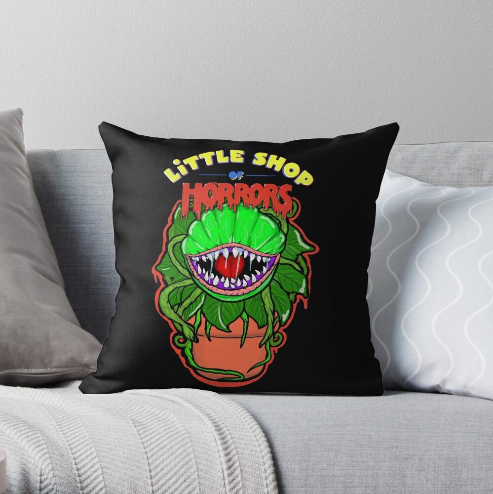 little shop of horrors Audrey 2 Throw Pillow