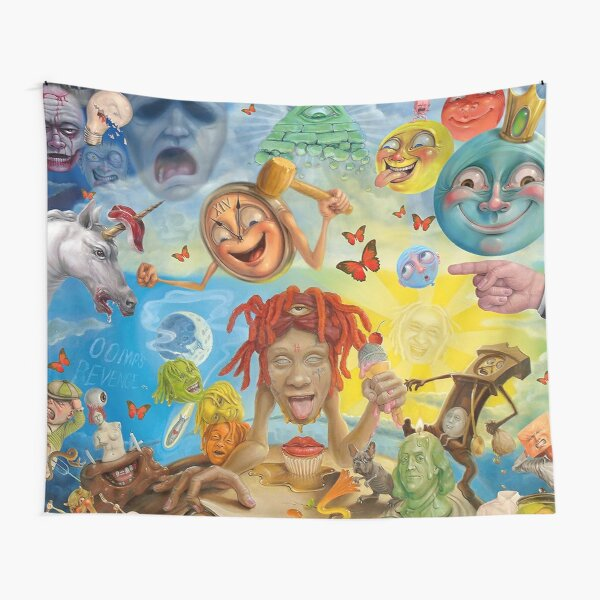 the trippie abstrac wall Tapestry