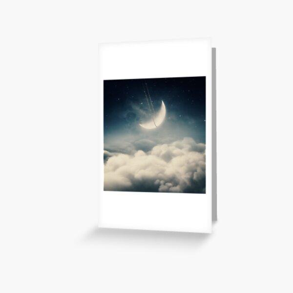 The swinging moon Greeting Card