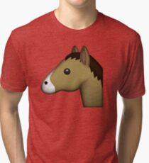 Horse Face Emoji Tri-blend T-Shirt