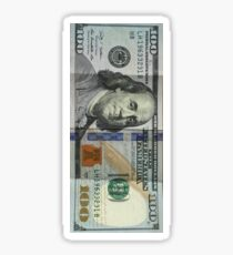 Money - One Hundred Dollar Bill If you like, please purchase, try a cell phone cover thanks Sticker