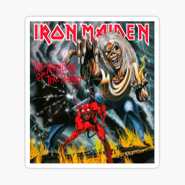 iron maiden vol1 Sticker