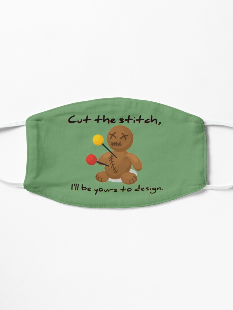 Alternate view of Cut The Stitch, Yours To Design - James Marriott Design Mask