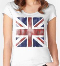 United Kingdom British flag Women's Fitted Scoop T-Shirt