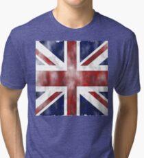 United Kingdom British flag Tri-blend T-Shirt