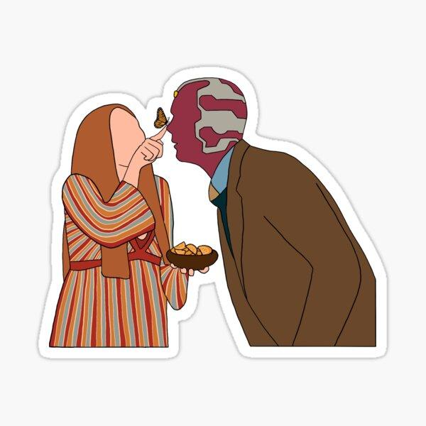 An Unusual Couple Sticker