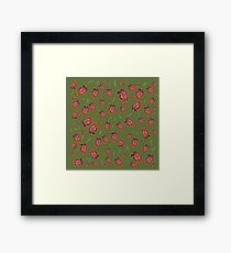 Trinidad Scorpion Chilli Peppers Green Framed Print