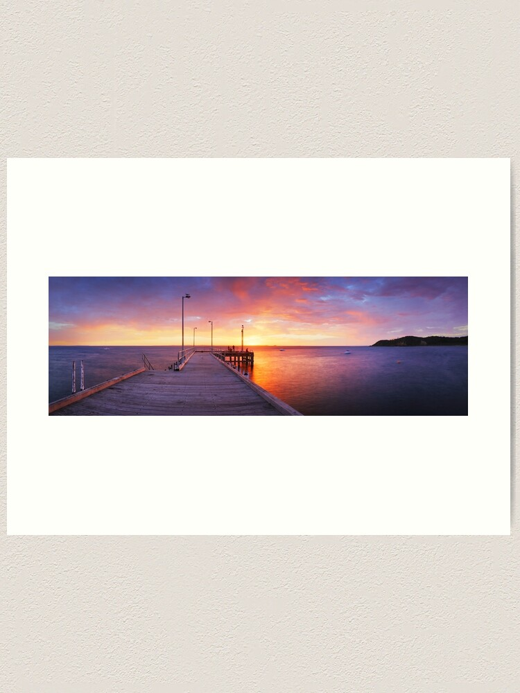 Alternate view of Flinders Pier, Mornington Peninsula, Victoria, Australia Art Print
