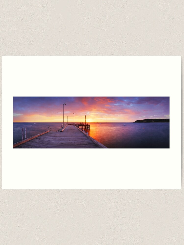 Alternate view of Flinders Pier, Mornington Peninsula, Victoria, Australia Art Print