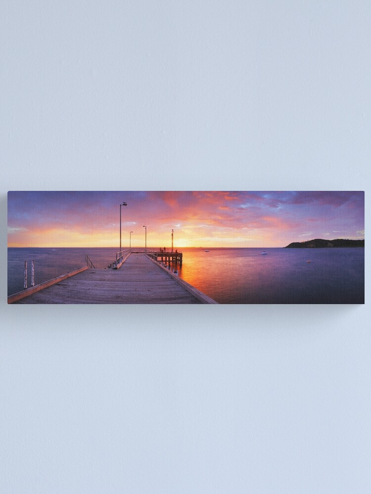 Alternate view of Flinders Pier, Mornington Peninsula, Victoria, Australia Canvas Print