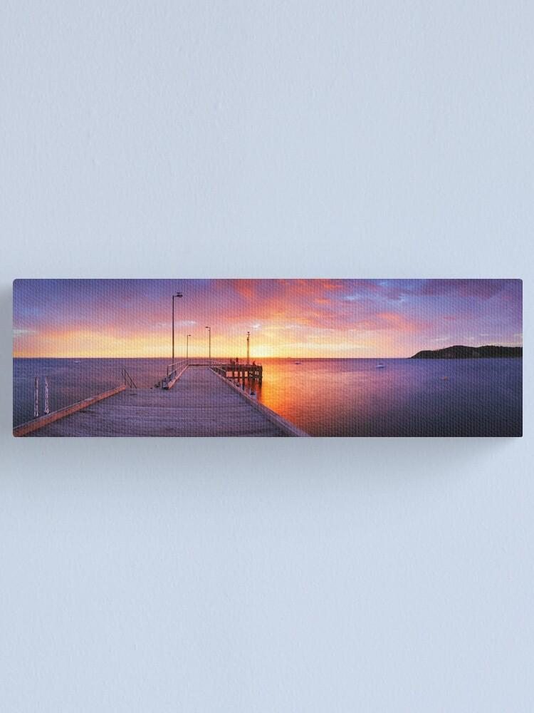 Alternate view of Flinders Pier, Mornington Peninsula, Victoria, Australia Canvas Print