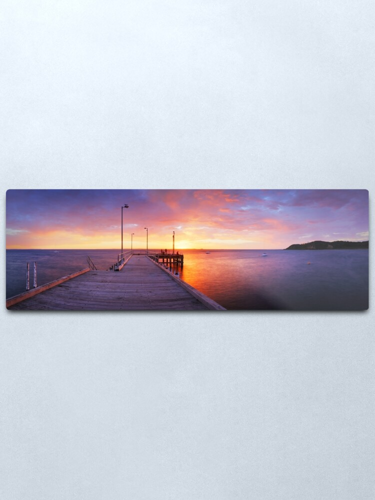 Alternate view of Flinders Pier, Mornington Peninsula, Victoria, Australia Metal Print