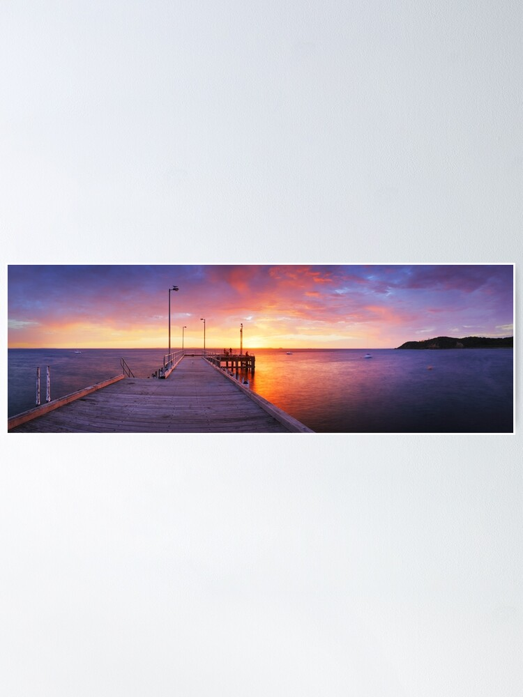 Alternate view of Flinders Pier, Mornington Peninsula, Victoria, Australia Poster