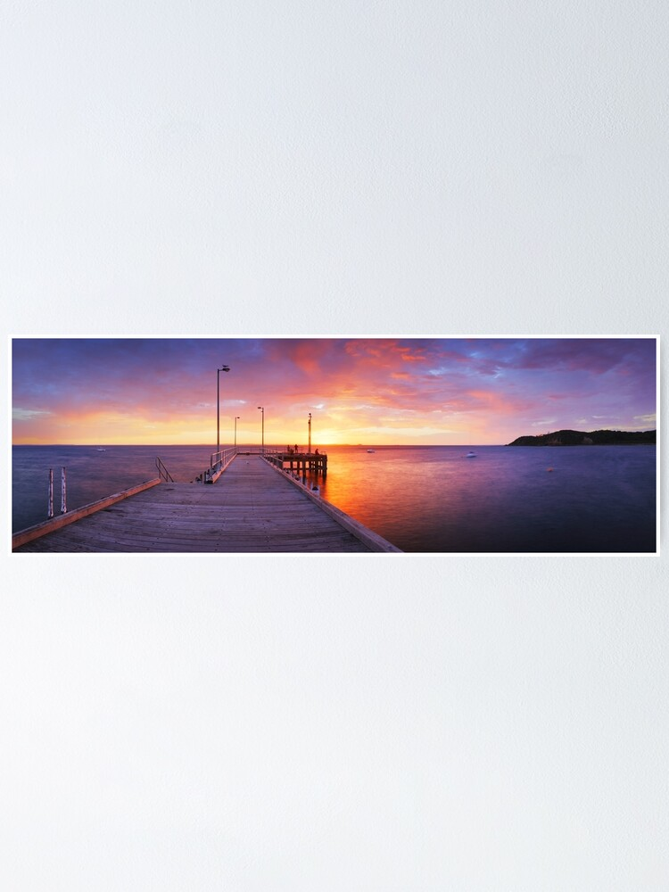 Alternate view of Flinders Pier, Mornington Peninsula, Victoria, Australia Poster