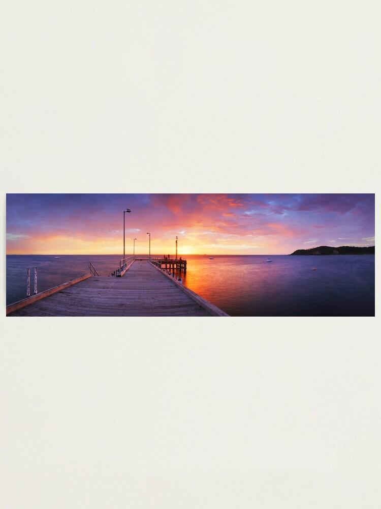 Alternate view of Flinders Pier, Mornington Peninsula, Victoria, Australia Photographic Print