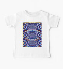 """""""PSYCHEDELIC CIRCLES"""" Abstract Print Baby Tee"""