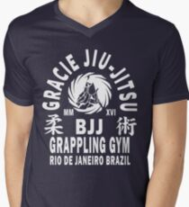 Gracie Jiu Jitsu Men's V-Neck T-Shirt