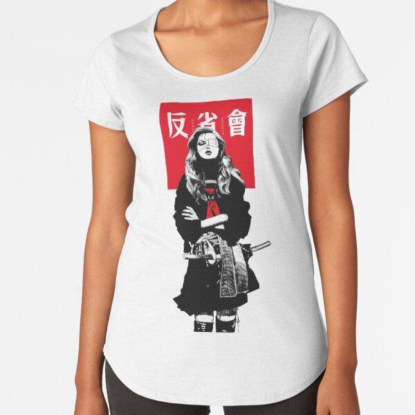 Japanese Samurai Girl Urban Cyberpunk Style Premium Scoop T-Shirt