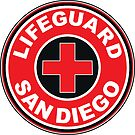 LIFEGUARD SAN DIEGO SURFING CALIFORNIA SURFER BEACH SURFBOARD by MyHandmadeSigns