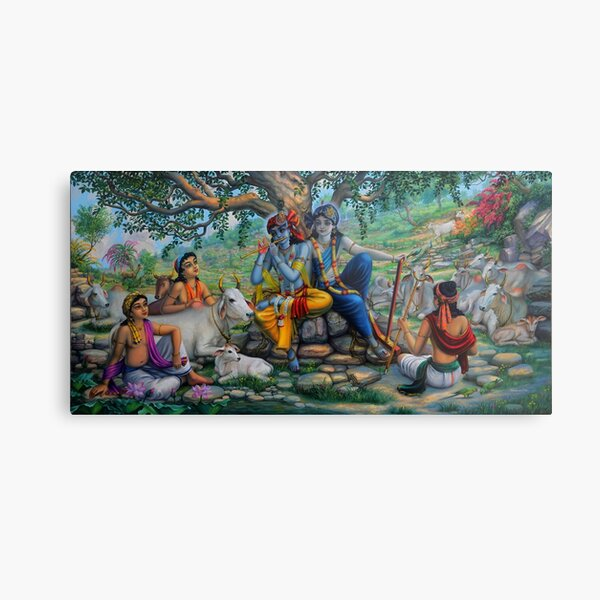 Krishna Balaram on Govardhan Hill Metal Print