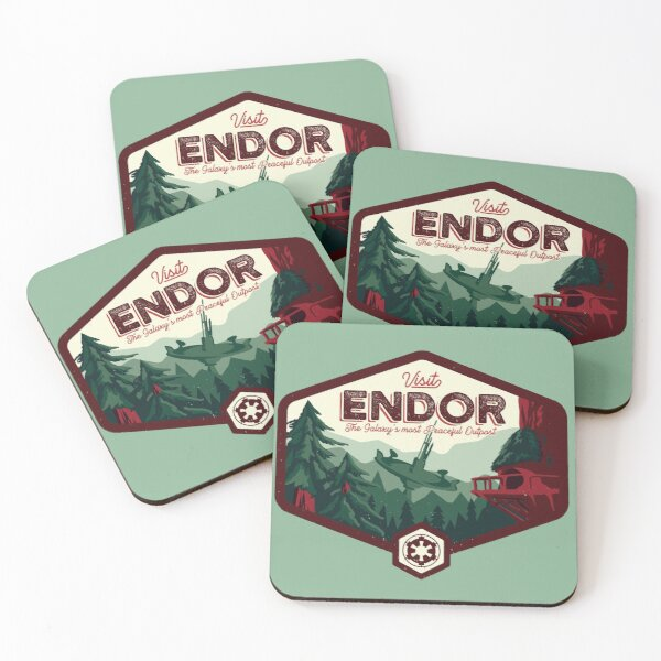 The Most Peaceful Outpost Coasters (Set of 4)
