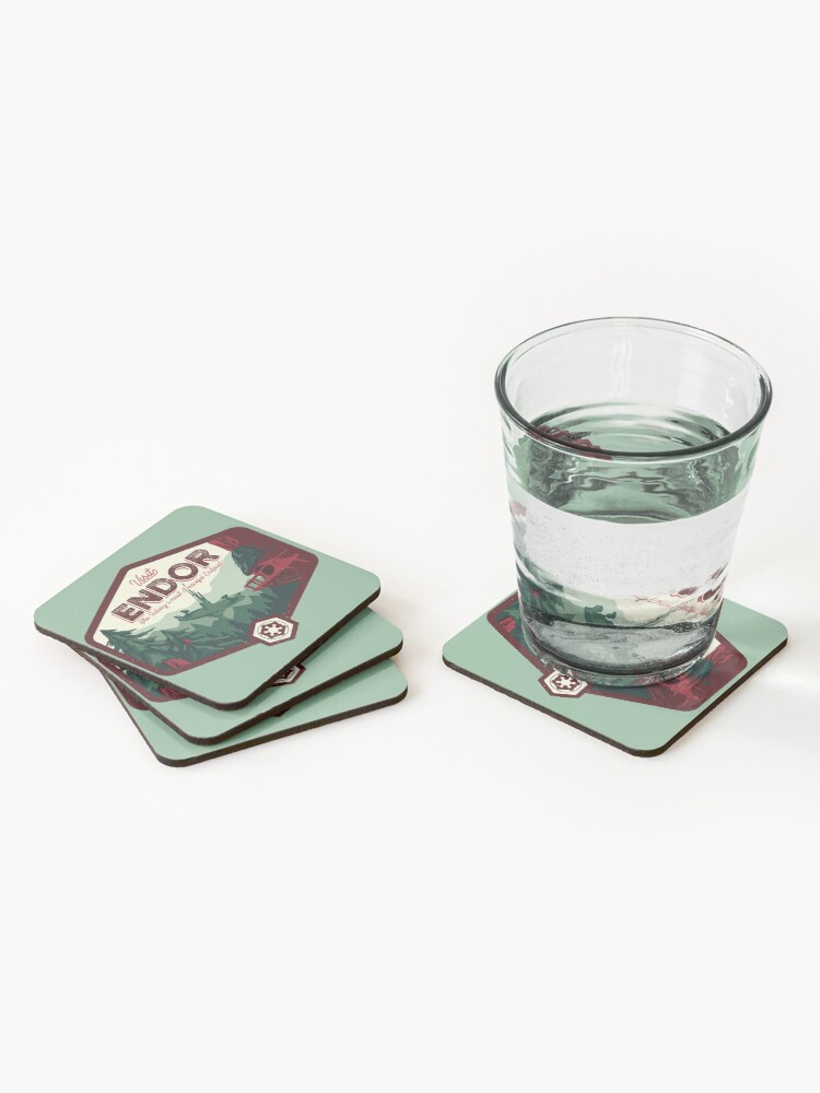 Alternate view of The Most Peaceful Outpost Coasters (Set of 4)