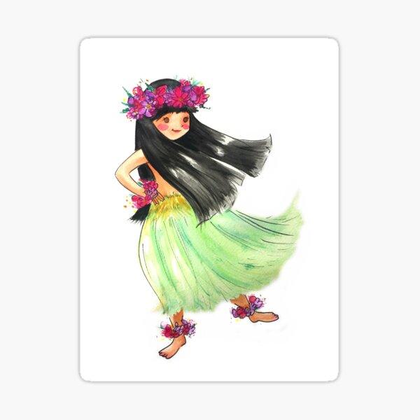 Hula Girl Sticker