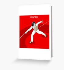 Fencing 2016 Olympics Summer Games Greeting Card