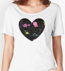 Dinamic Girlz Dino Pattern Women's Relaxed Fit T-Shirt