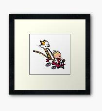 calvin and hobbes speed Framed Print